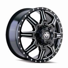 Mayhem 8101 Monstir Front Black Milled Spokes 22X8.25 8-165.1 127mm 116.7mm