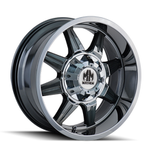 Mayhem 8100 PVD2 Chrome 22X10 8-165.1/8-170 -19mm 130.8mm