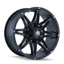 Mayhem Rampage 8090 Matte Black 22X9.5 5-127/5-139.7 -6mm 87mm