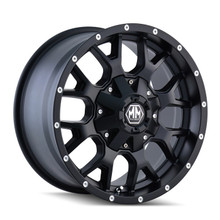 Mayhem 8015 Warrior Matte Black 22X12 5-127/5-139.7 -44mm 87mm