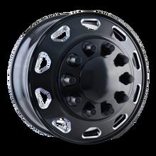 IONBILT IB02 Front Black/Milled Spokes 24.5X8.25 10-285.75 168mm 220.1mm