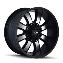 ION 189 Satin Black/Machined Face 18X10 8-165.1/8-170 -19mm 130.8mm