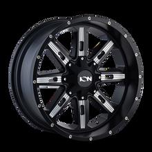 Ion 184 Satin Black/Milled Spokes 20X10 5-127/5-139.7 -19mm 87mm