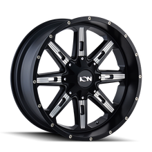 Ion 184 Satin Black/Milled Spokes 20X10 6-135/6-139.7 -19mm 108mm