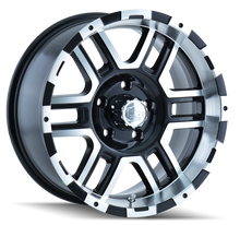 Ion 179 Black/Machined Face/Machined Lip 18X9 8-170 12mm 130.8mm