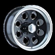 Ion 171 Black/Machined Lip 16X10 8-165.1 -38mm 130.8mm