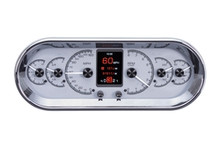 """Universal 4.4"""" x 11.4"""" Rounded Rectangle, Analog HDX Instruments with Silver Alloy Background"""