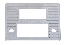 1937-38 Chevy Brushed Aluminum Radio Panel / Shafted with AC Vent