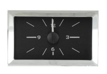 1957 Chevy Car Analog Clock Black Alloy Background