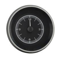 1963-67 Chevy Corvette Analog Clock Black Alloy Background