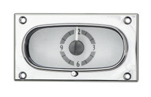 1958 Chevy Impala Analog Clock Silver Alloy Background