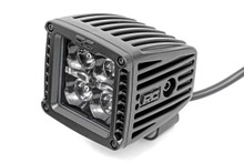 2-IN Square Mount Cree LED Lights (Pair / Black Series)(Spot Beam) side view