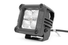 2-IN Square Mount Cree LED Lights (Pair / Chrome Series w/ Cool White DRL) Closer view