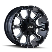 Cali Off-Road Anarchy Satin Black/Milled Spokes 20X9 8-165.1/8-170 18mm 130.8mm