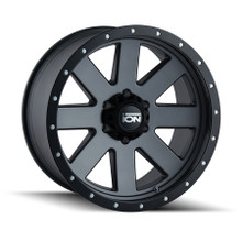 ION 134 Matte Gunmetal/Black Beadlock 18X9 6-135 18mm 87mm