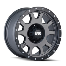 ION 135 Matte Gunmetal/Black Beadlock 17X8 6-135 10mm 87mm
