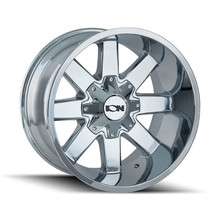 ION 141 Chrome 20X9 8-165.1/8-170 18mm 130.8mm front view