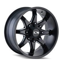 ION 181 Satin Black Milled Spokes 20X9 8-180 18mm 124.1mm