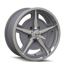 Ridler 605 Machined Spokes & Lip 17X7 5-114.3 0mm 83.82mm Front View
