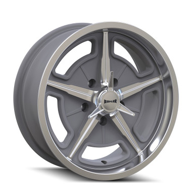 Ridler 605 Machined Spokes & Lip 18X8 5-114.3 0mm 83.82mm Front View