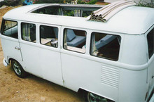 "46"" X 48"" Two Fold Sliding Rag Top ""VW Bus 68-Up Curve"""