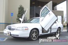 Vertical Doors 1998-2006 LINCOLN TOWN CAR Bolt on Lambo Door Kit