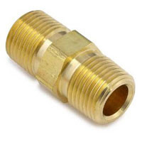 Brass Pipe Nipple Hex Reducing 3/8 Mnpt To 1/4 Mnpt