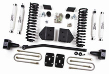 """2011 F250, F350 Super Duty Gas 4WD W/O Top Overload Springs 4"""" Lift Kit"""