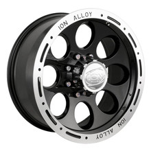 Ion Alloy 174 Series Wheels Black 16X10 6 x 139.7