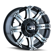 Ion 186 Black/Machined Face 16X8 8-165.1/8-170 10mm 130.8mm