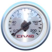 AVS Silver Single Needle Air Pressure Gauge 200psi