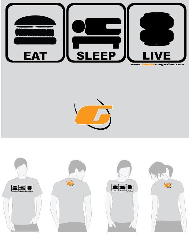 gauge magazine grey tee shirt eat sleep live. Black Bedroom Furniture Sets. Home Design Ideas