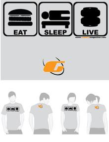 Grey Tee Shirt Eat, Sleep, Live