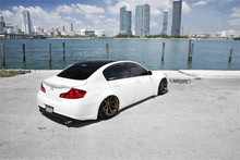 08-13 Infiniti G37 Air Lift Kit with Manual Air Management- Rear/Side View