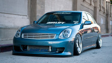 02-06 Infiniti G35 Sedan Air Lift Kit with Manual Air Management- Front/Side View