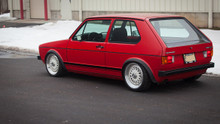 1974-1984 Volkswagen Golf Air Lift Kit with Manual Air Management- Side View