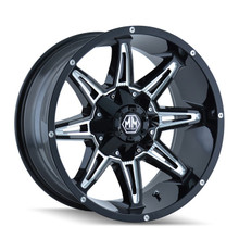 Mayhem Rampage 8090 Black/Milled Spokes 17x9 8-165.1/8-170 -12mm 130.8mm