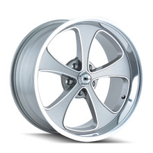 Ridler 645 Grey/Machined Face/Polished Lip 18x9.5 5-127 0mm 83.82mm