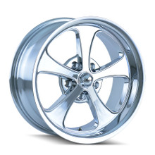 Ridler 645 Chrome 18x8 5-120.65 0mm 83.82mm