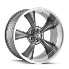 Ridler 695 Grey/Machined Lip 20x10 5-120.65 0mm 83.82mm