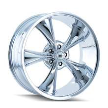 Ridler 695 Chrome 17x8 5-114.3 0mm 83.82mm