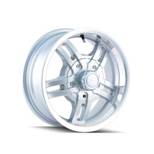 Ion Trailer Wheels 12 Silver/Machined 15x6 6-139.7 0mm 108mm