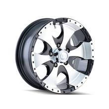 Ion Trailer Wheels 136 Black/Machined 14x6 5-114.3 0mm 83.82mm