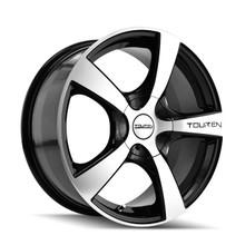 Touren 3190 Black/Machined 16X7 5-100/5-114.3 48mm 72.62mm