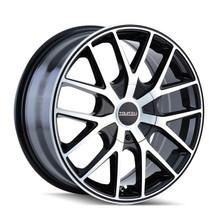 Touren 3260 Black/Machined Face/Ring 16X7 5-100/5-114.3 42mm 72.62mm