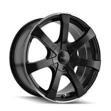 Touren 3290 Black/Machined Ring 17X7.5 4-100/4-114.3 42mm 67.1mm