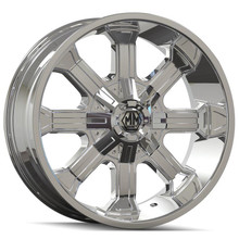 Mayhem Beast 8102 Chrome 20x9 8x165.1/170 -12mm 130.8