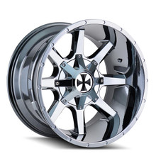 Cali Offroad Busted PVD2 Chrome 20X9 5-139.7/5-150 18mm 110mm