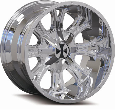 Cali Offroad 9101 Americana 22x14 Chrome -76mm 108