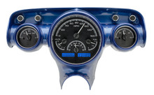 1957 Chevy Car VHX Instruments black and blue